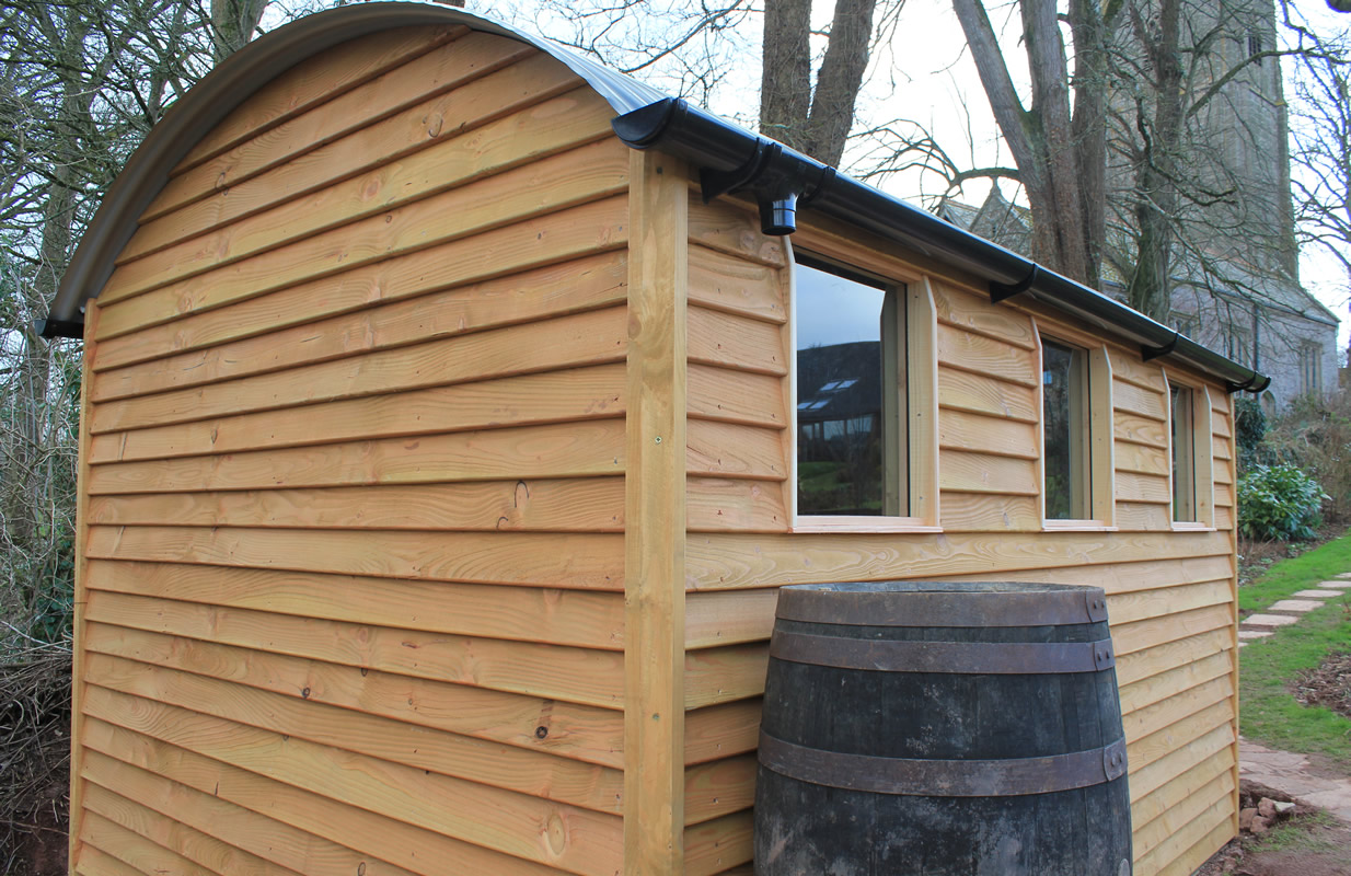 image of sustainable wood on hut