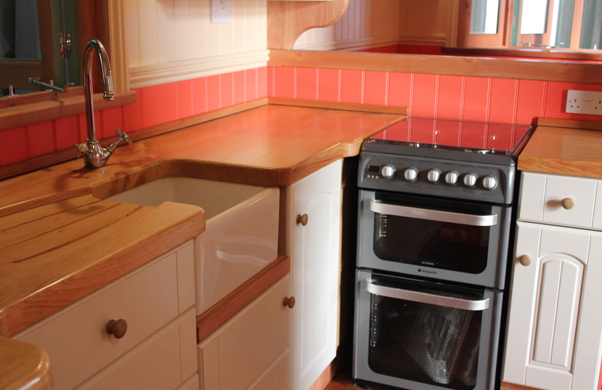 image of bespoke kitchen and gas oven