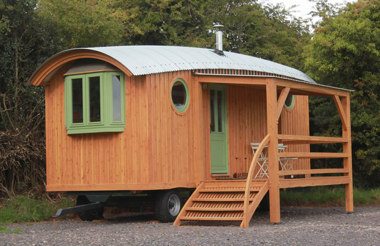 image of one of our wagons with a bespoke veranda